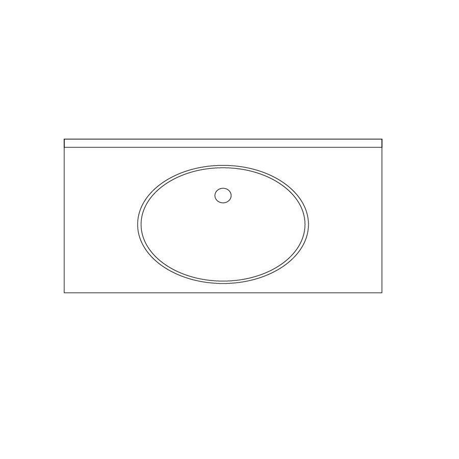 US Marble Baroque Aspen Solid Surface Undermount Bathroom Vanity Top (Common: 24-in x 22-in; Actual: 24.5-in x 22-in)