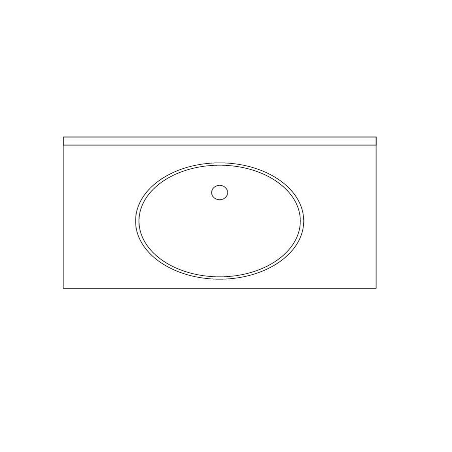 US Marble Evercor Apollo Solid Surface Undermount Bathroom Vanity Top (Common: 37-in x 22-in; Actual: 36.5-in x 22-in)