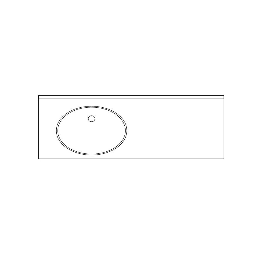 US Marble Evercor Apollo Solid Surface Undermount Bathroom Vanity Top (Common: 73-in x 22-in; Actual: 72-in x 22-in)