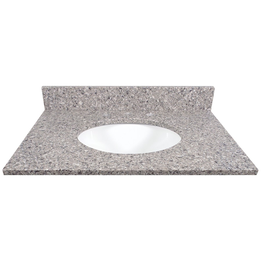 US Marble Copenhagen Quartz Undermount Single Sink Bathroom Vanity Top (Common: 31-in x 22-in; Actual: 31-in x 22.25-in)