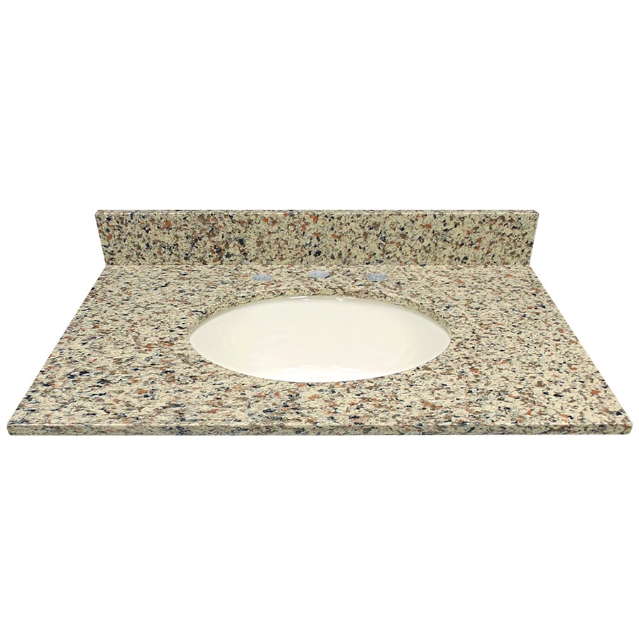 US Marble Canyon Quartz Undermount Single Sink Bathroom Vanity Top (Common: 31-in x 22-in; Actual: 31-in x 22.25-in)
