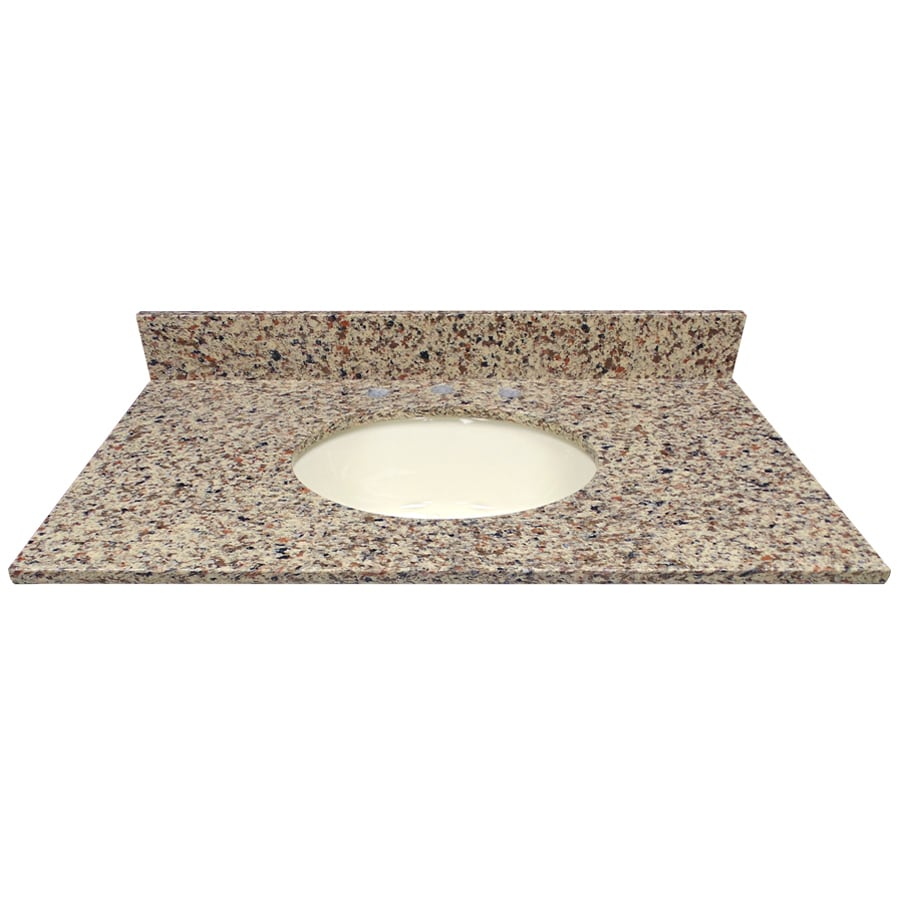 US Marble Canyon Quartz Undermount Single Sink Bathroom Vanity Top (Common: 37-in x 22-in; Actual: 37-in x 22.25-in)
