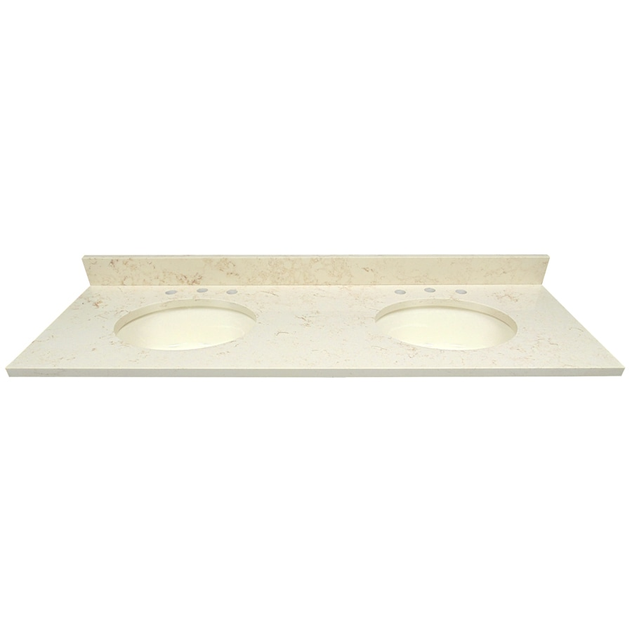 Shop US Marble Giallo Beige Quartz Undermount Double Sink