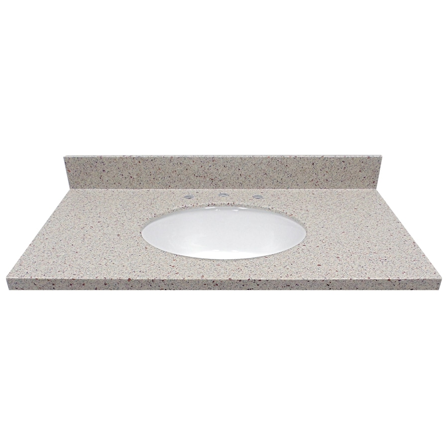 US Marble Knottingham Solid Surface Undermount Bathroom Vanity Top (Common: 37-in x 22-in; Actual: 37-in x 22-in)
