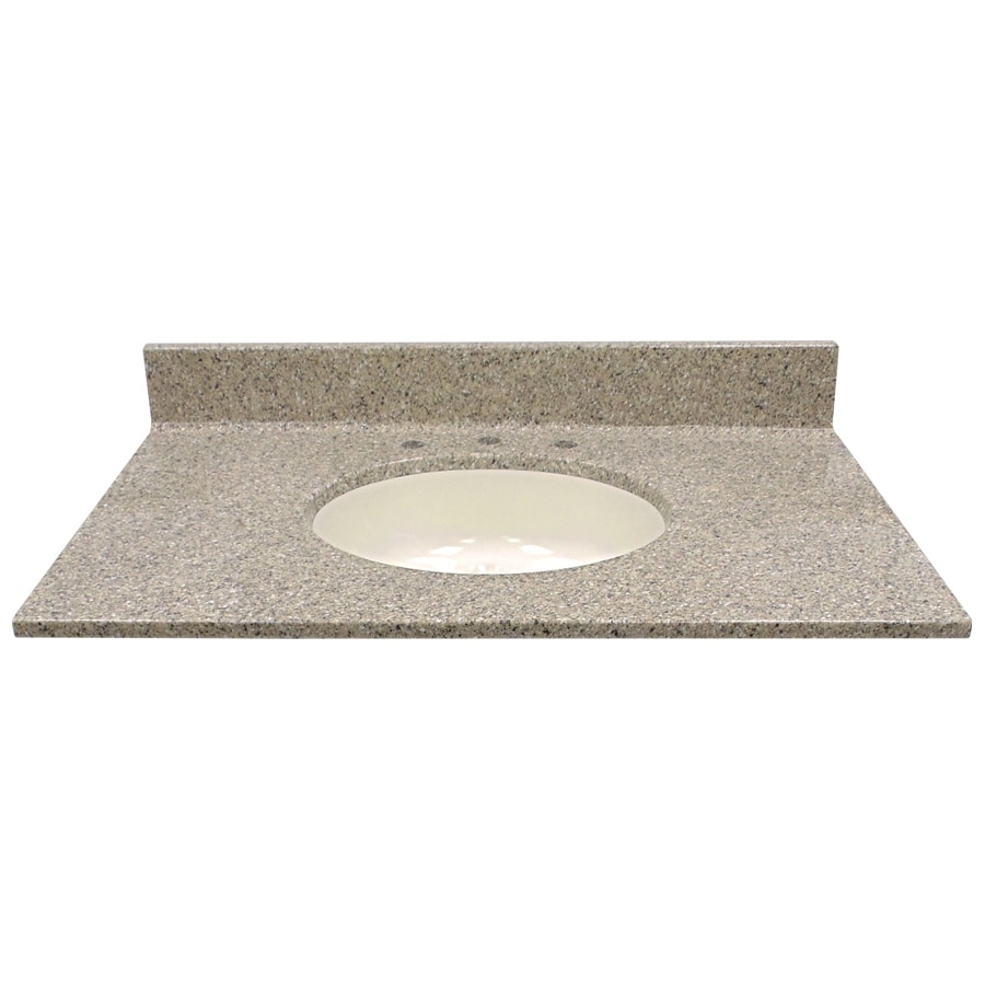 Us Marble Vanity Tops : Shop us marble pebble cultured integral single sink