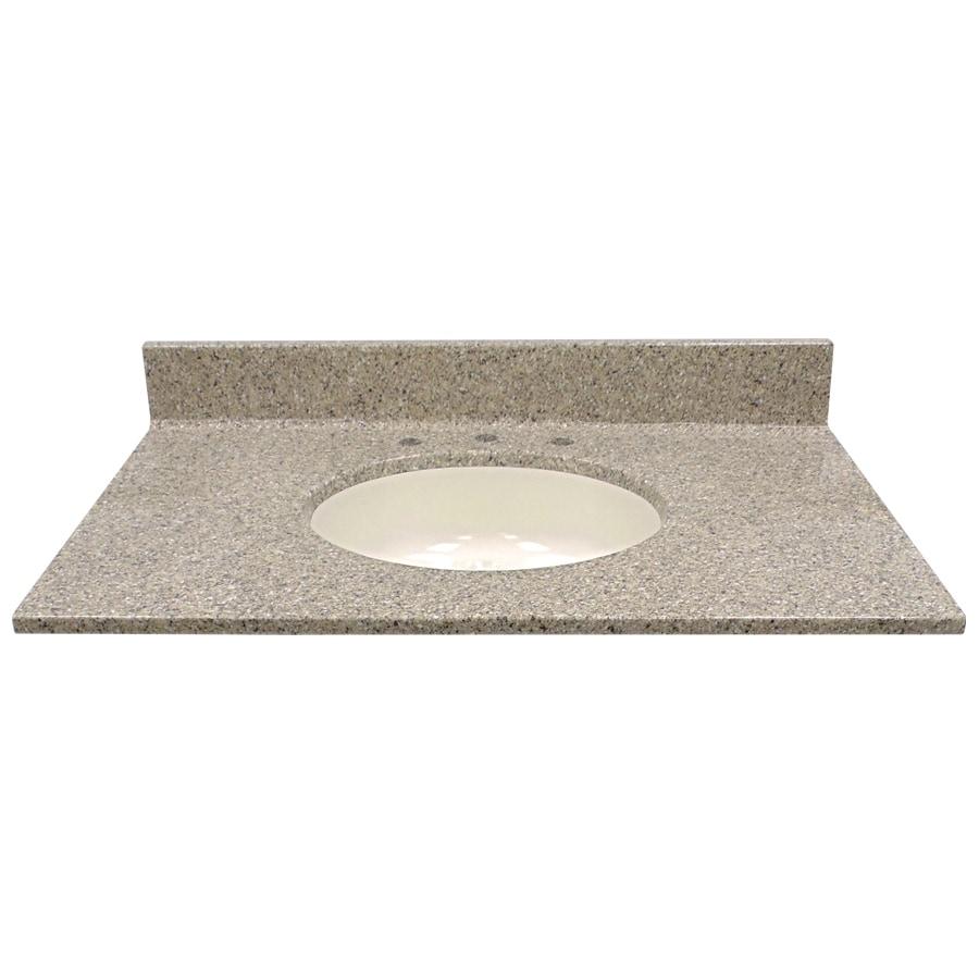Shop us marble pebble cultured marble integral single sink - Cultured marble bathroom vanity tops ...