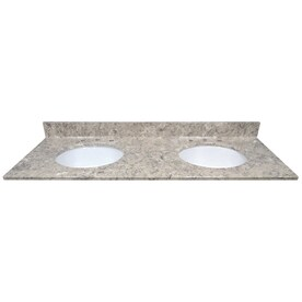 96 inch double sink vanity top. US Marble River Bottom Cultured Undermount Double Sink Bathroom  Vanity Top Common 61 Shop Tops At Lowes Com
