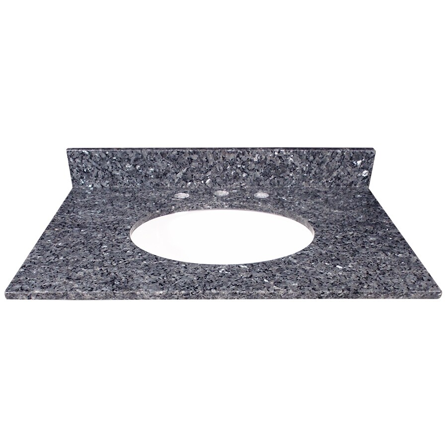 US Marble Blue Pearl Granite Undermount Bathroom Vanity Top (Common: 31-in x 22-in; Actual: 31-in x 22.25-in)