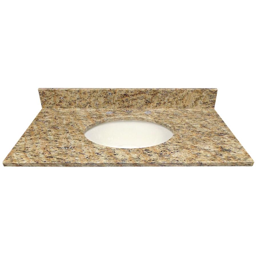 Us Marble Vanity Tops : Shop us marble santa cecilia granite undermount single