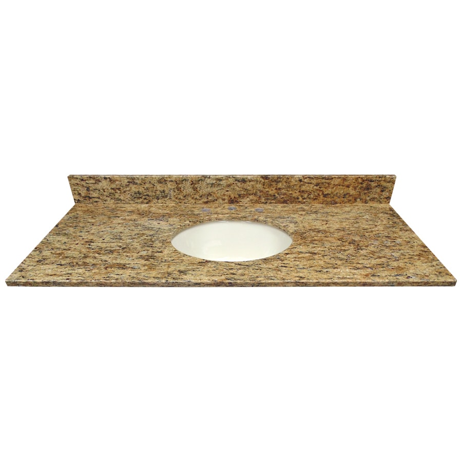 US Marble Santa Cecilia Granite Undermount Single Sink Bathroom Vanity Top (Common: 49-in x 22-in; Actual: 49-in x 22.25-in)