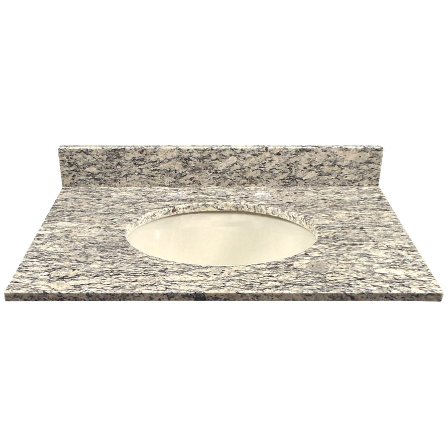 Light Colored Granite For Bathroom: Shop US Marble Santa Cecilia LIGHT Granite Undermount