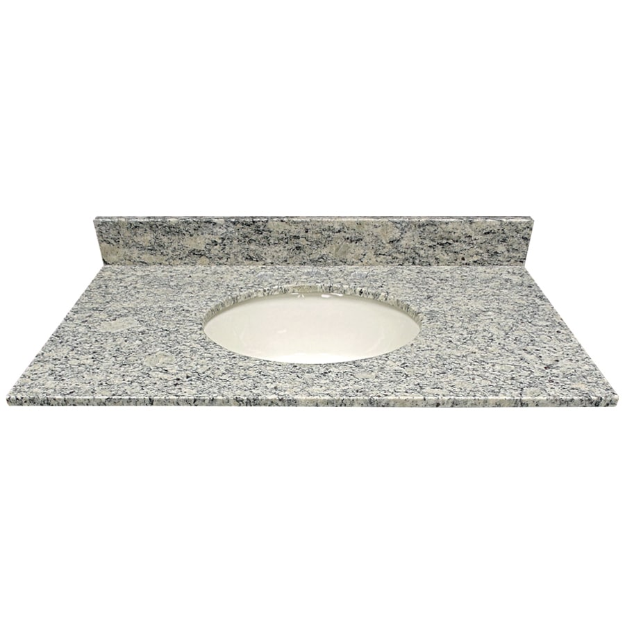 US Marble Santa Cecilia Light Granite Undermount Single Sink Bathroom Vanity Top (Common: 37-in x 22-in; Actual: 37-in x 22.25-in)