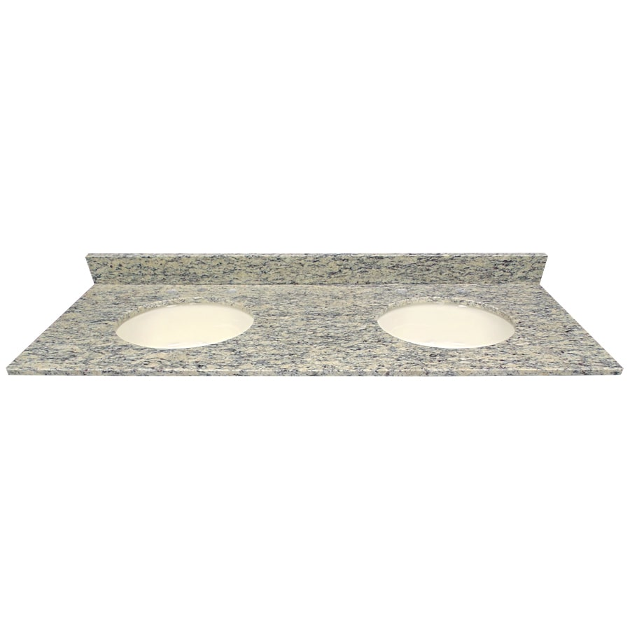 Light Colored Granite For Bathroom: US Marble Santa Cecilia LIGHT Granite Undermount Double