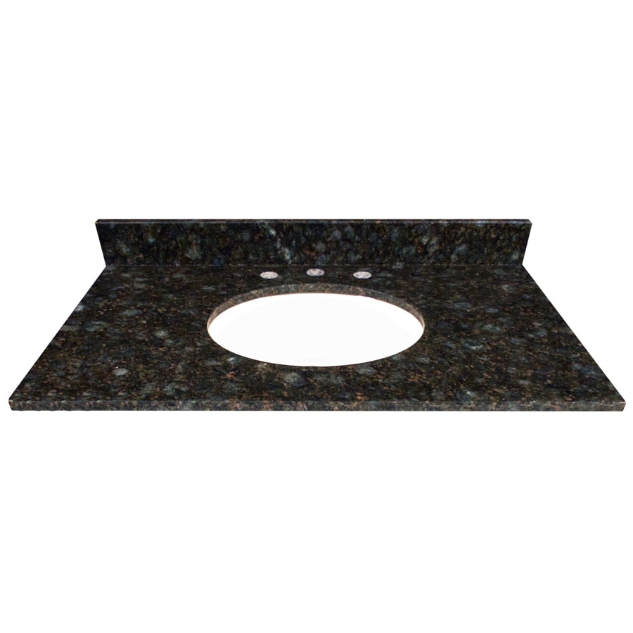 US Marble Verde Butterfly Granite Undermount Bathroom Vanity Top (Common: 37-in x 22-in; Actual: 37-in x 22.25-in)