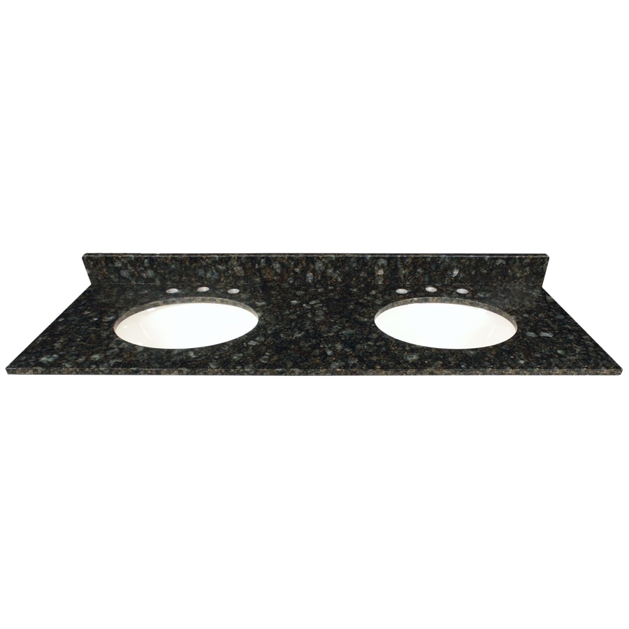 US Marble Verde Butterfly Granite Undermount Double Sink Bathroom Vanity Top  (Common: 61