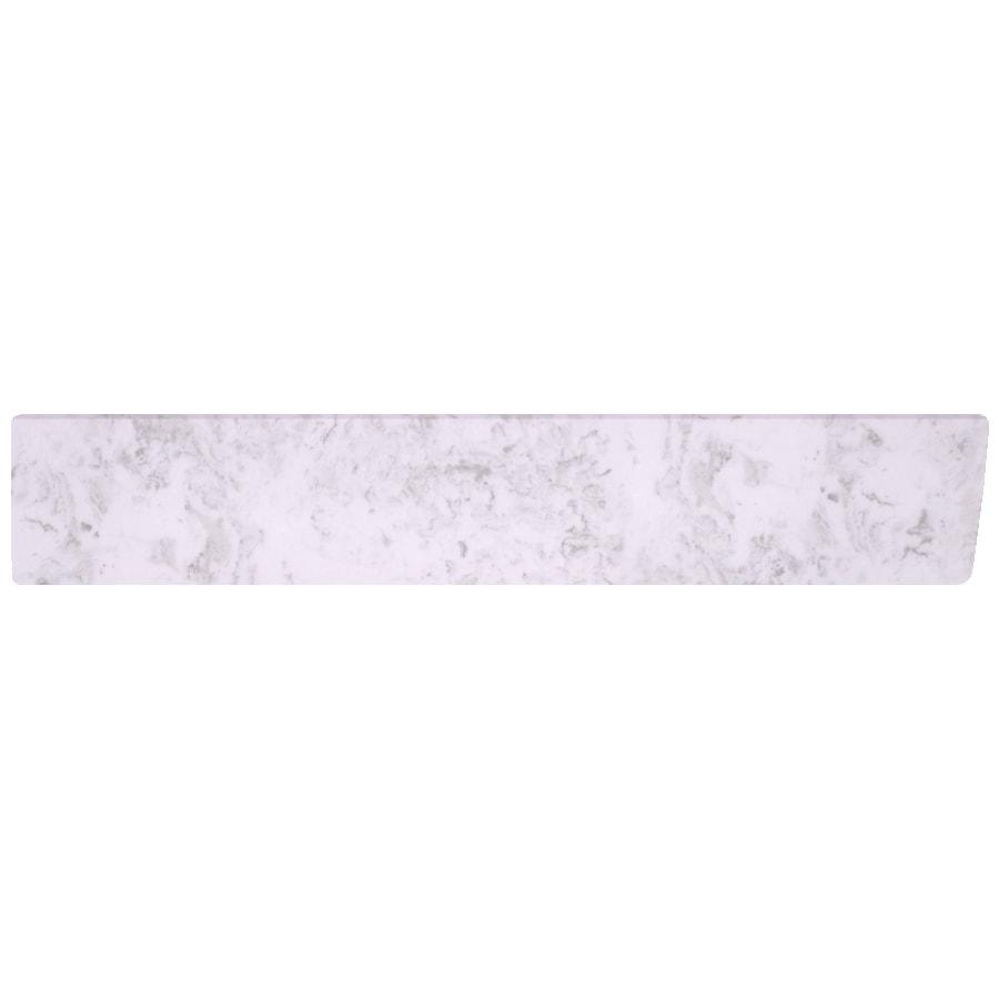US Marble 4-in H x 21.25-in L Steel Gray on White Bathroom Side Splash