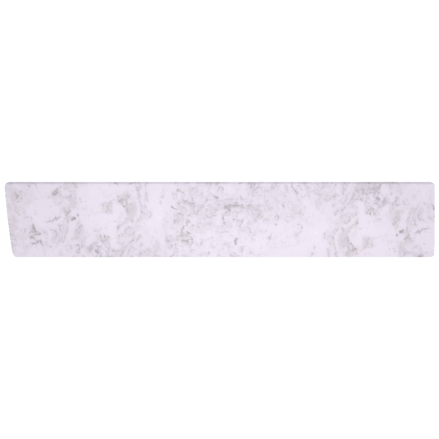 US Marble 4-in H x 21.25-in L Steel Grey on White Bathroom Side Splash