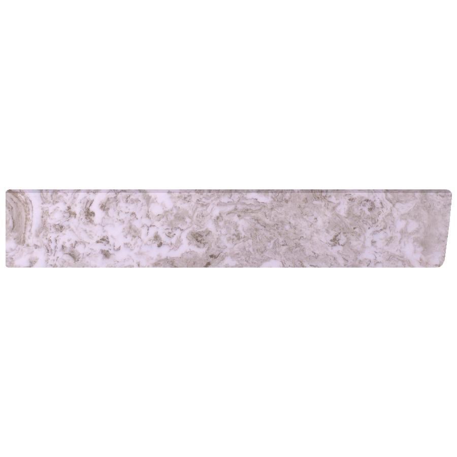 US Marble 4-in H x 21.25-in L Brown on White Bathroom Side Splash