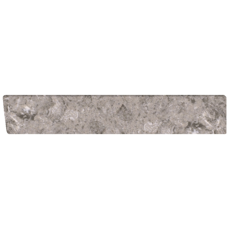 US Marble 4-in H x 21.25-in L River Bottom Bathroom Side Splash