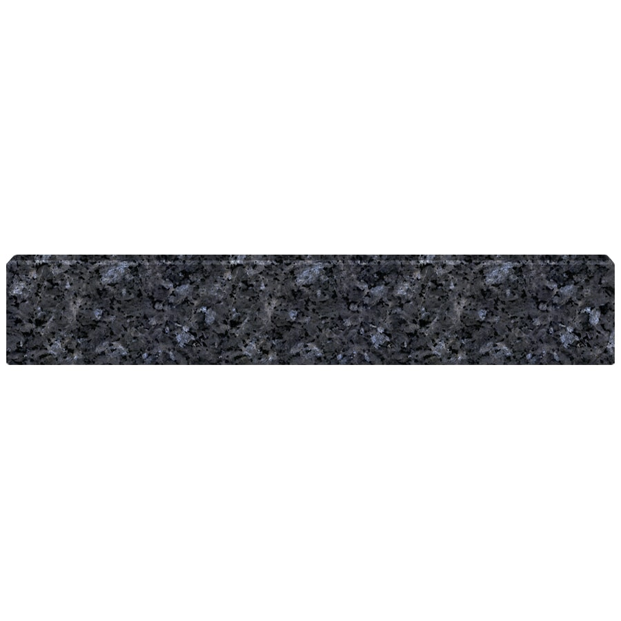 US Marble 4-in H x 21.25-in L Blue Pearl Bathroom Side Splash