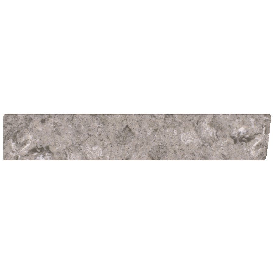 US Marble 4-in H x 21.25-in L River Bottom Matte Bathroom Side Splash