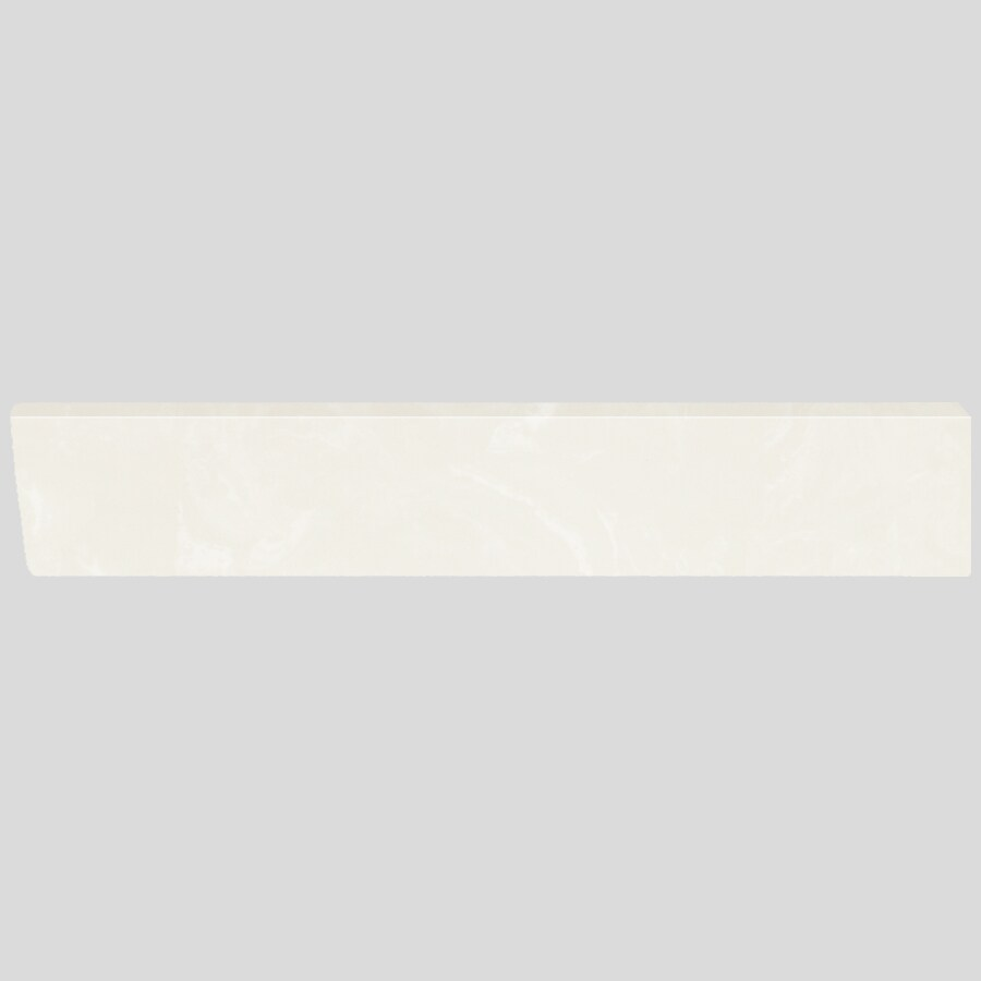 US Marble 4-in H x 21.25-in L White on White Bathroom Side Splash