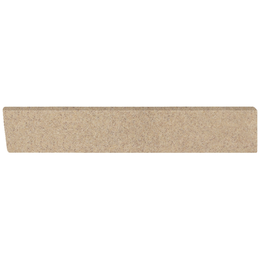 US Marble 4-in H x 21.25-in L Brown Sugar Bathroom Side Splash