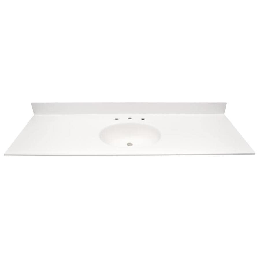 Solid Surface Vanity Tops With Sink : Shop us marble ec polar solid surface integral single sink