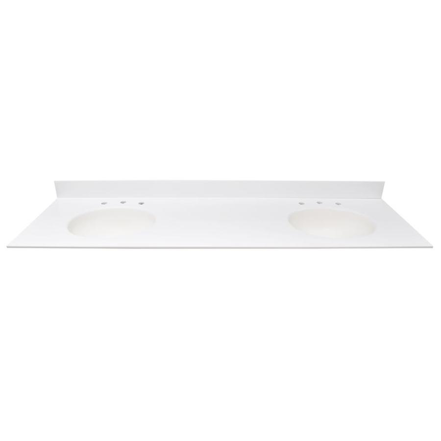 Shop Us Marble Ec Polar Solid Surface Integral Double Sink