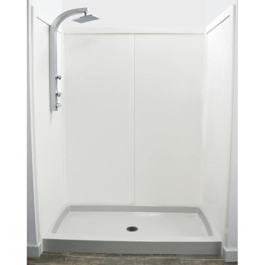 US Marble Ecq Chiffon Shower Wall Surround Side and Back Wall Kit (Common: 60-in x 32-in; Actual: 72-in x 60-in x 32-in)