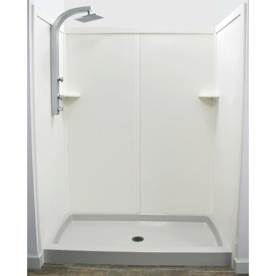 US Marble Ecq Chiffon Shower Wall Surround Side And Back Wall Kit (Common:  60