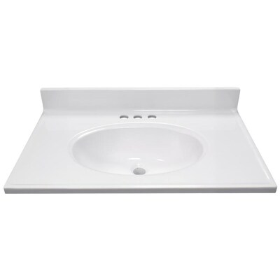 Us Marble 19 In X 31 White Vanity Top With Single Sink