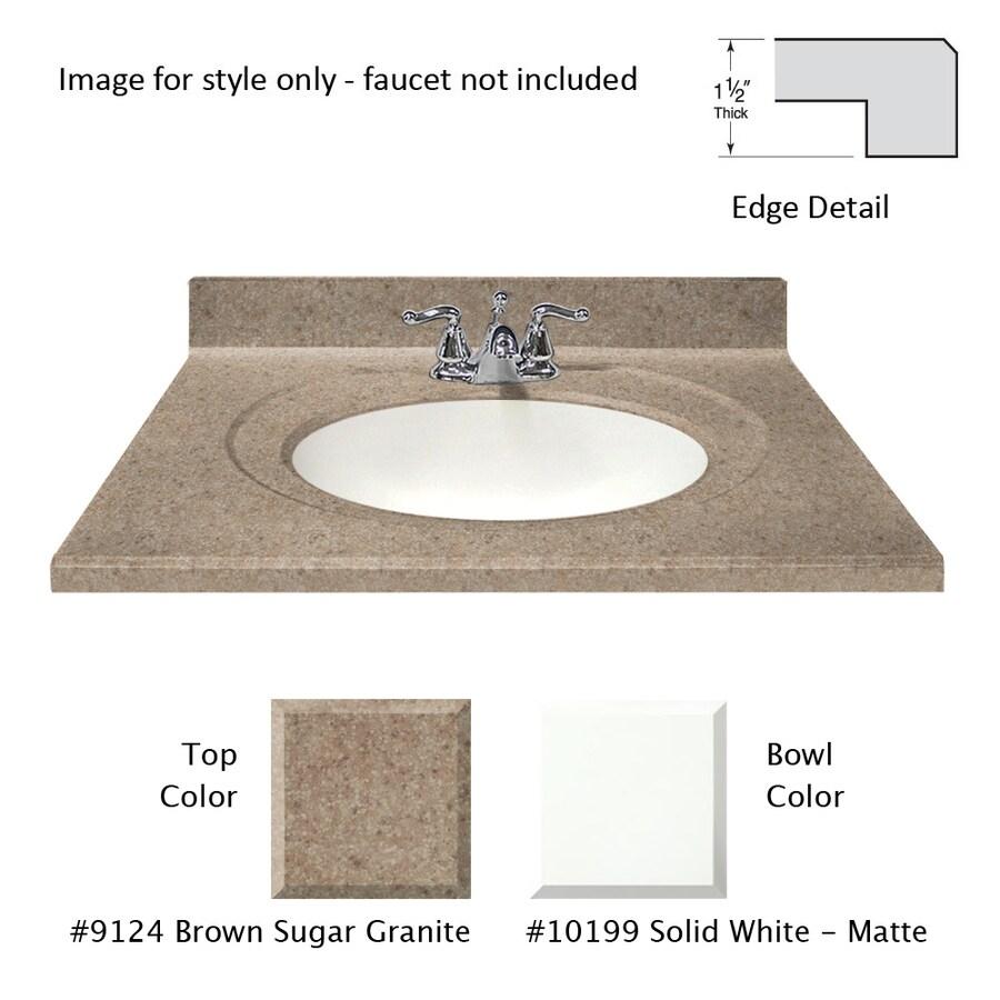 Shop US Marble Designer Brown Sugar Cultured Marble Integral Single ...