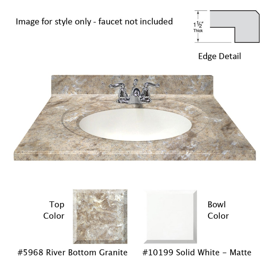 Bathroom Vanity 31 X 22 shop us marble designer river bottom cultured marble integral