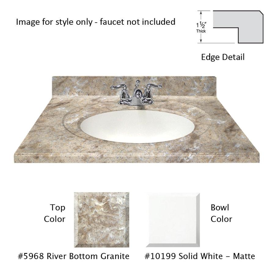 Bathroom Sinks 31 X 22 shop us marble designer river bottom cultured marble integral
