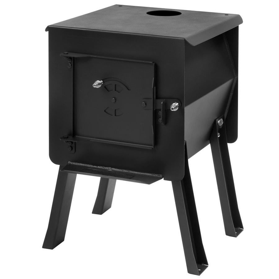 England's Stove Works Survivor 25.375-in Wood Manual Ignition Satin Black Outdoor Stove