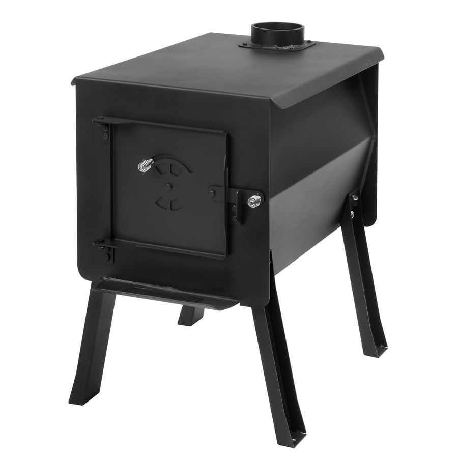 England's Stove Works Survivor 27.375-in Wood Manual Ignition Satin Black Outdoor Stove