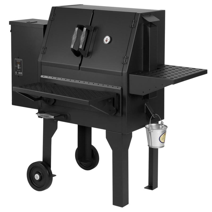 Shop summers heat 788 sq in satin black pellet grill at - Pellet grills and smokers ...