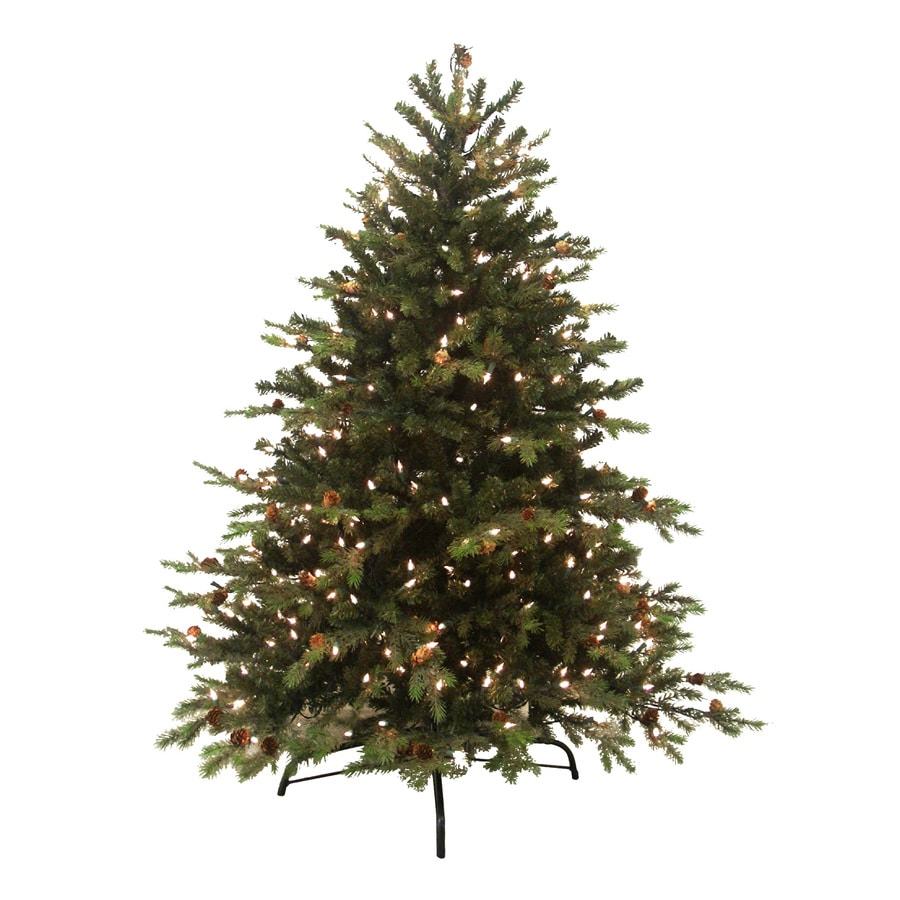 gkibethlehem lighting 65 ft pre lit spruce artificial christmas tree with white