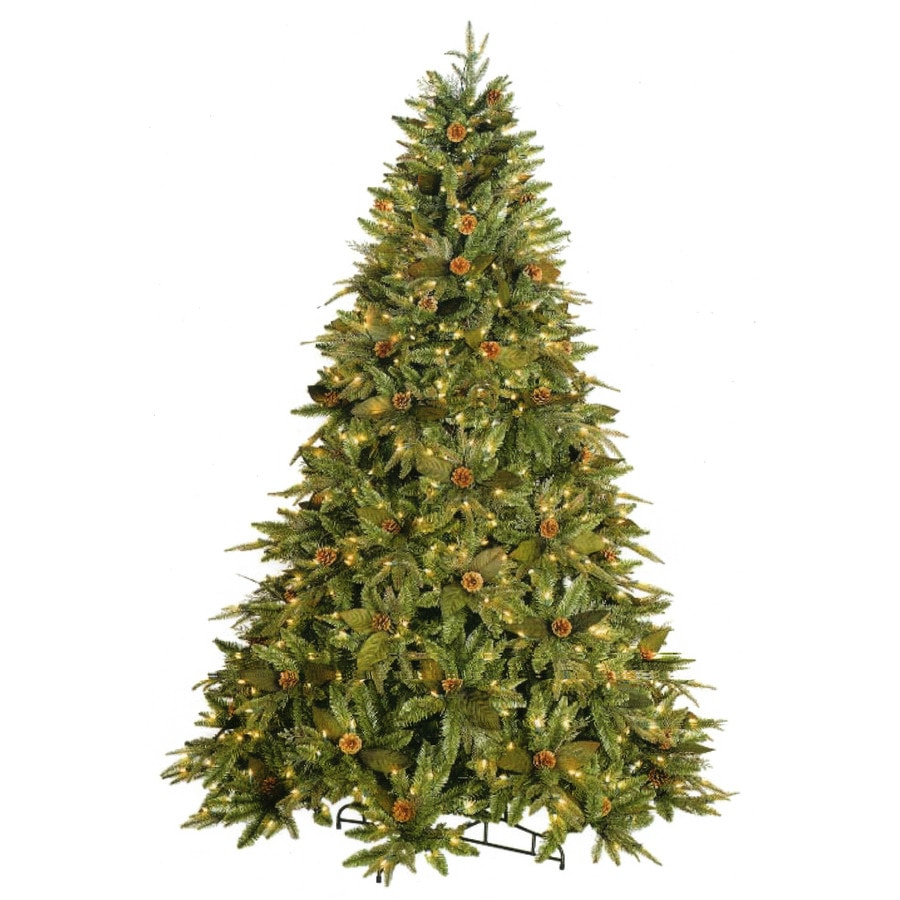 gkibethlehem lighting 75 ft pre lit spruce artificial christmas tree with white