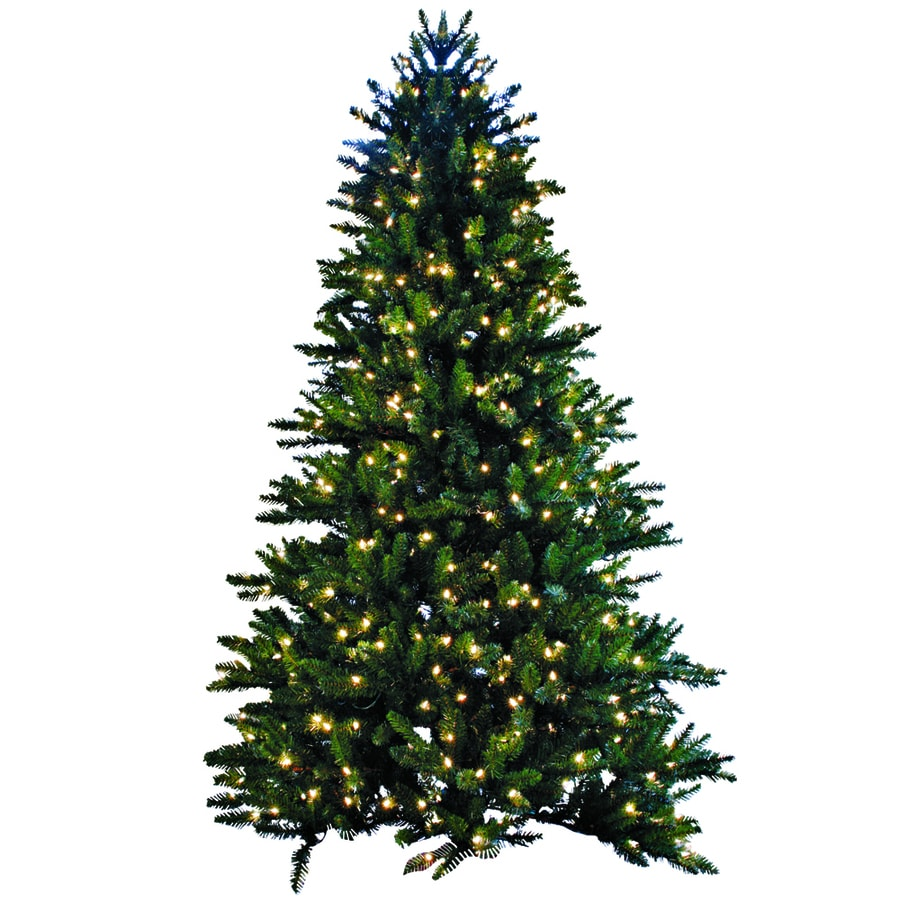Shop GKI Bethlehem Lighting 7 5 Ft Pre Lit Spruce Artificial Christmas Tree W