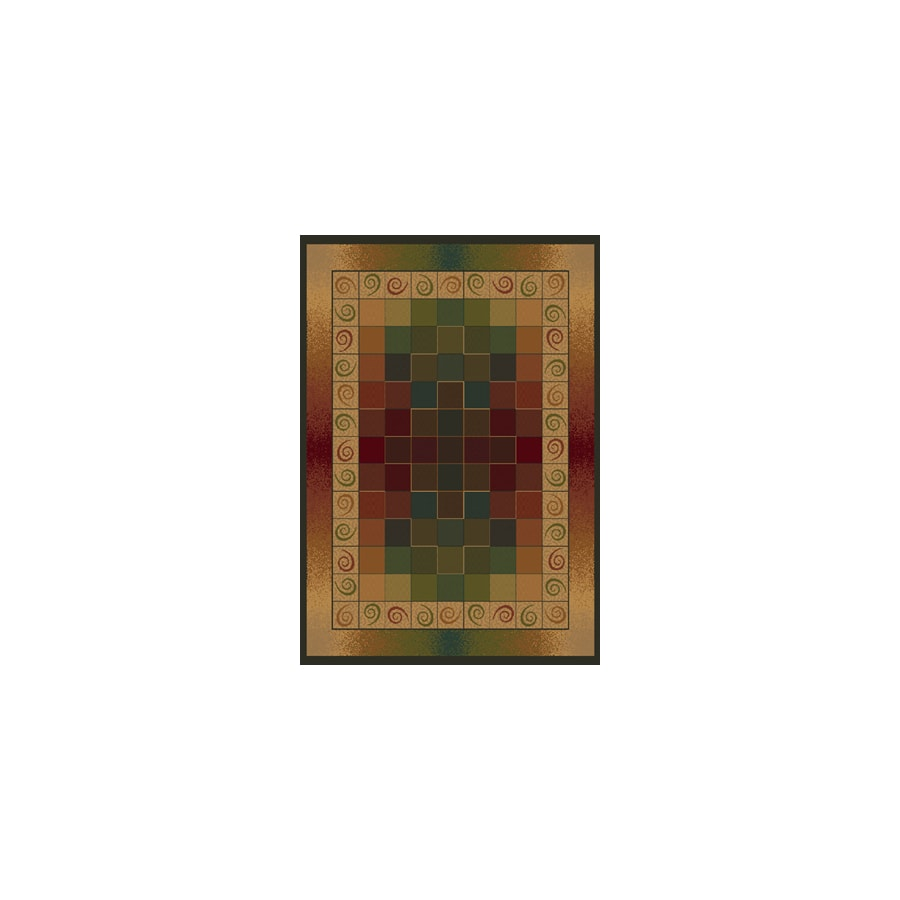 United Weavers Of America Genesis Brown Rectangular Indoor Woven Area Rug (Common: 8 x 10; Actual: 94-in W x 126-in L)