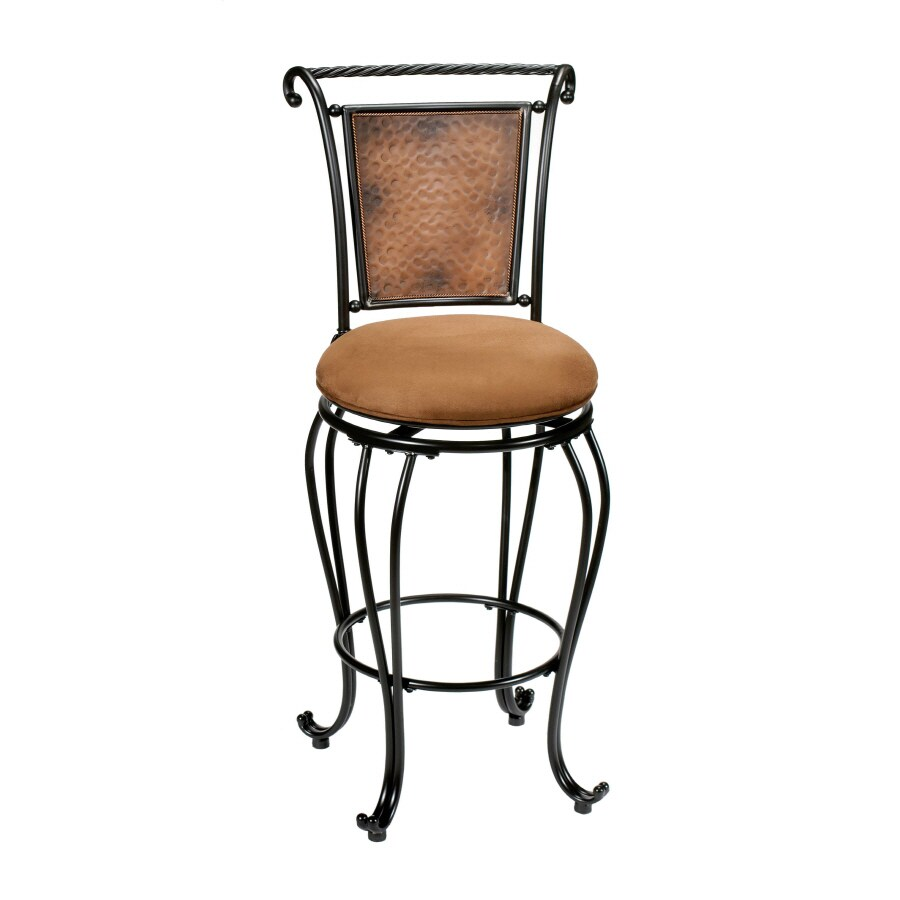Hillsdale Furniture Milan Casual Black/Copper Accent Bar Stool