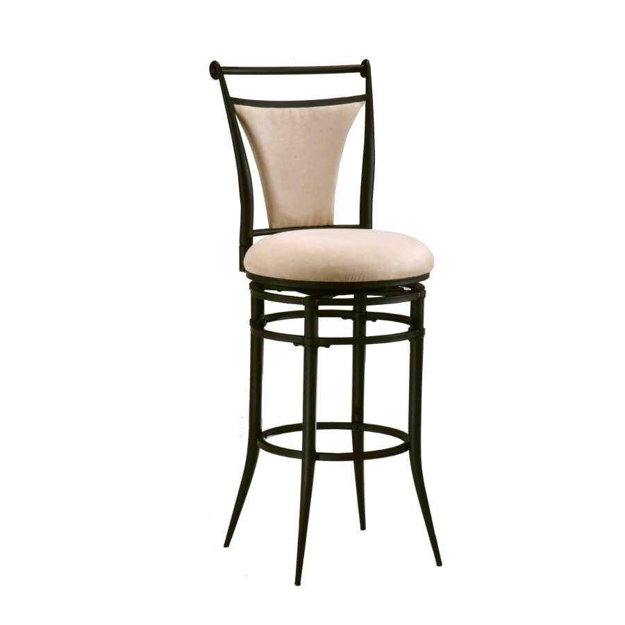 Hillsdale Furniture Cierra Black 26-in Counter Stool (22-in To 26-in)