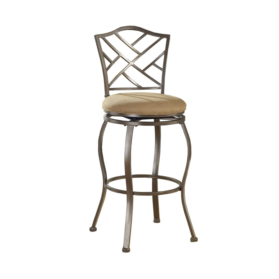 Hillsdale Furniture Hanover Brown Powder Coat 24-in Counter Stool