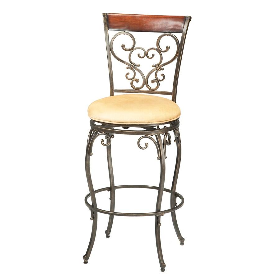 Hillsdale Furniture Knightsbridge Brown Cherry 26-in Counter Stool