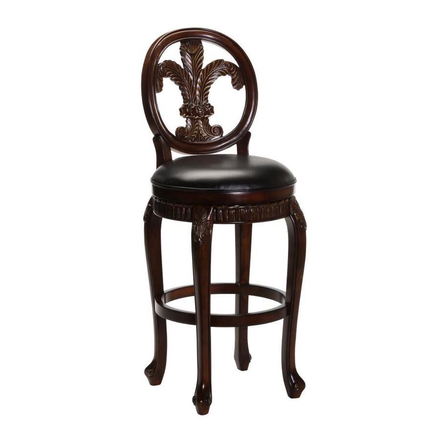 Hillsdale Furniture Fleur De Lis Eclectic Distressed Cherry with Copper HighLights Counter Stool