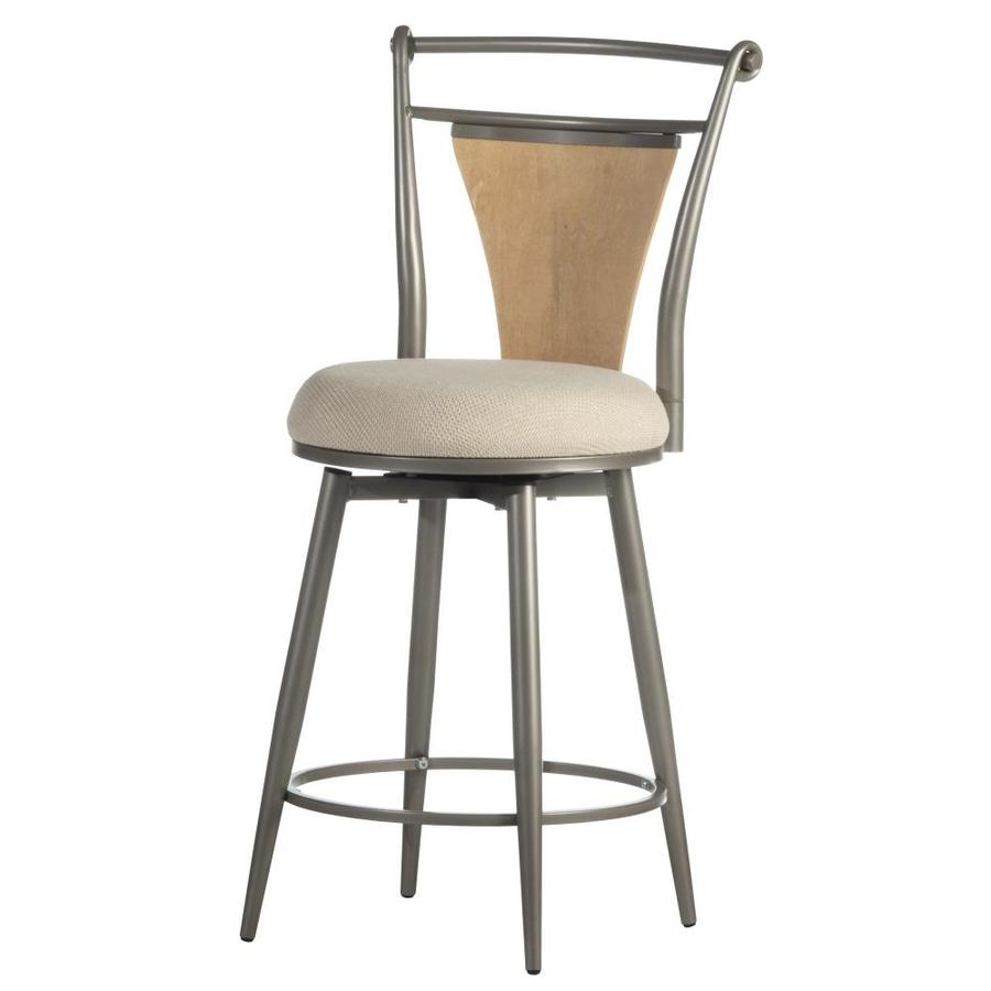 Hillsdale Furniture London Modern Pewter with Maple Wood Counter Stool