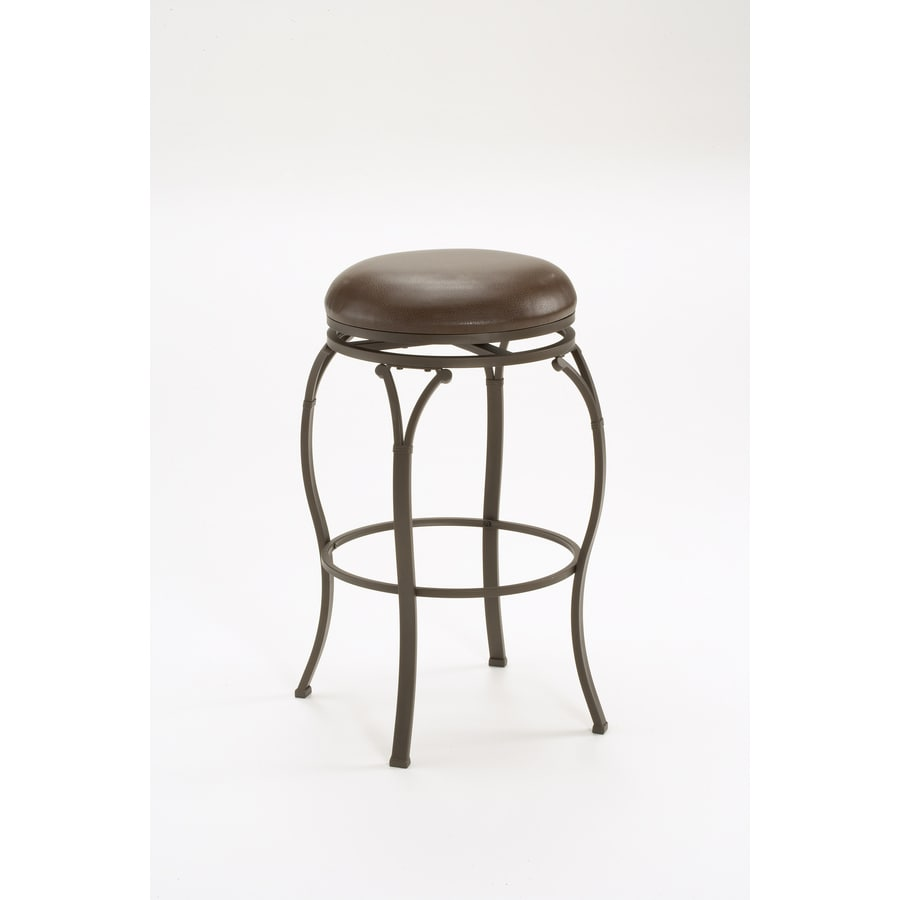 Hillsdale Furniture Lakeview Brown 24.375-in Counter Stool