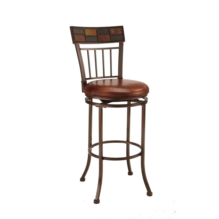 Hillsdale Furniture Montero Rustic Copper Slate Top Bar Stool